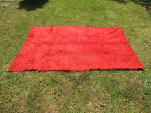 Vintage Red Shaggy Turkish Kilim Rug Tulu - bosphorusrugs  - 5