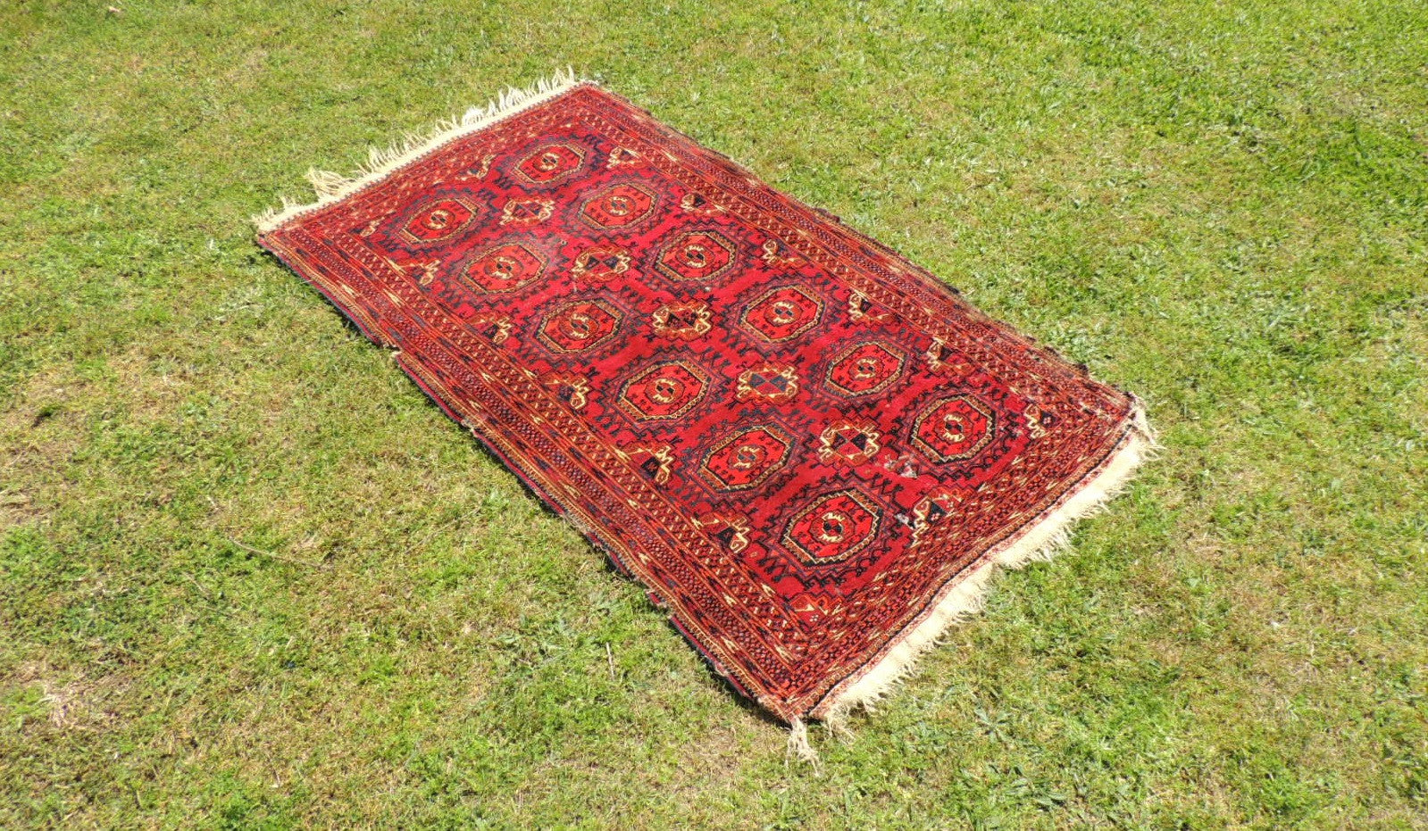 Antique Red Turkoman Area Rug - bosphorusrugs  - 1