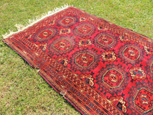 Antique Red Turkoman Area Rug - bosphorusrugs  - 6