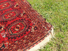 Antique Red Turkoman Area Rug - bosphorusrugs  - 5