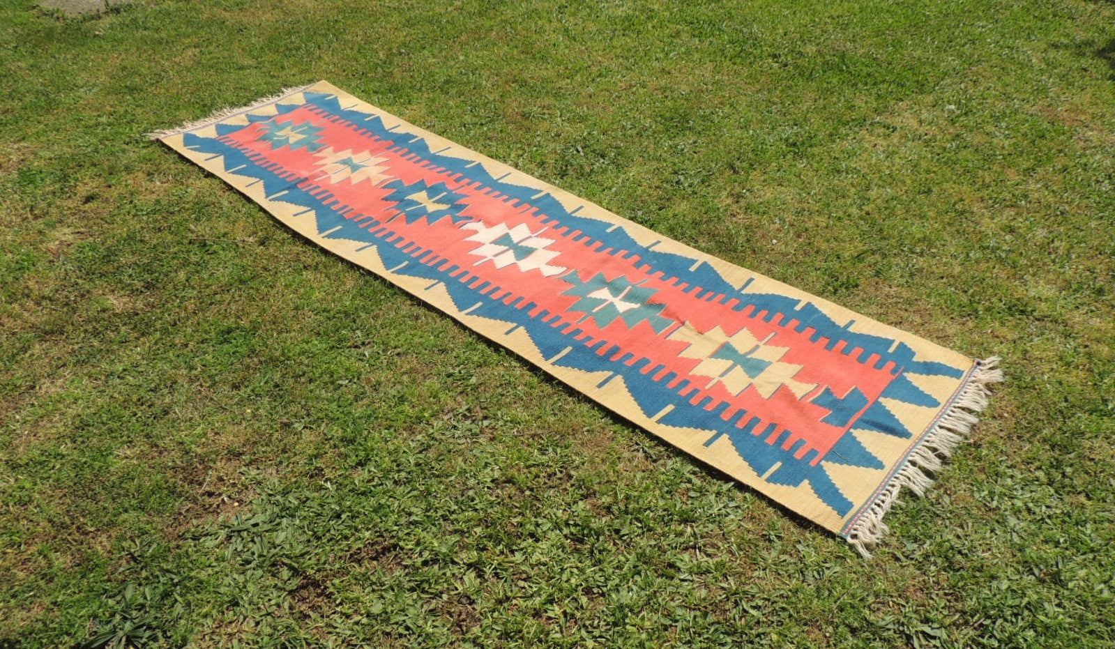 70's Tribal Geometric Turkish Kilim Rug