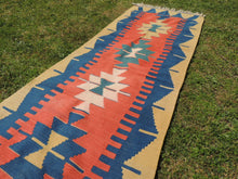 Geometric Turkish kilim runner