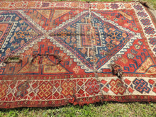 Antique Persian Tribal Rug with Natural Dyes