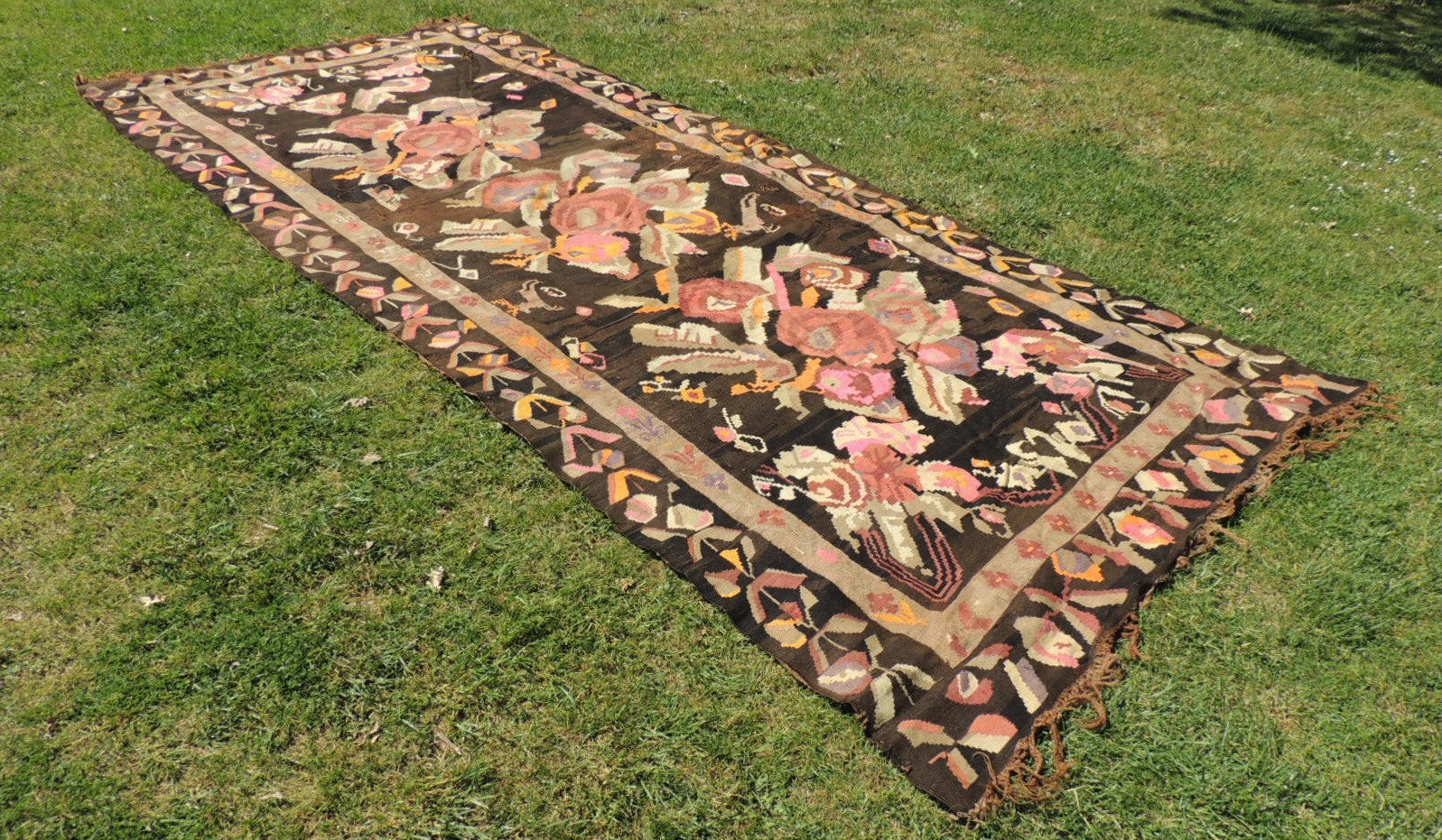 7x17 feet Antique Karabagh kilim rug