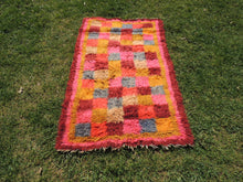 "Pink Turkish kilim rug ""Tulu"" 3x6 ft. - bosphorusrugs  - 2"