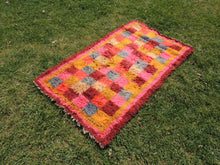 "Pink Turkish kilim rug ""Tulu"" 3x6 ft. - bosphorusrugs  - 3"