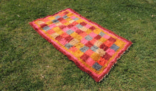 "Pink Turkish kilim rug ""Tulu"" 3x6 ft. - bosphorusrugs  - 1"