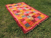 "Pink Turkish kilim rug ""Tulu"" 3x6 ft. - bosphorusrugs  - 5"