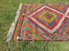 "Vintage Turkish kilim rug ""Rainbow"" - bosphorusrugs  - 6"