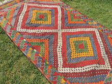 "Vintage Turkish kilim rug ""Rainbow"" - bosphorusrugs  - 7"
