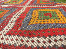 "Vintage Turkish kilim rug ""Rainbow"" - bosphorusrugs  - 8"