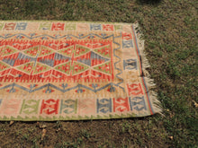 Oushak Kilim Rug with Great Color Combination