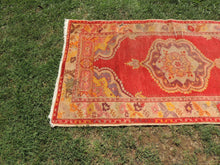 Vintage Hand knotted Turkish Guney Carpet
