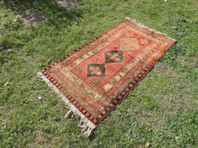 3x6 ft. Antique Turkish Rug Brick Colour