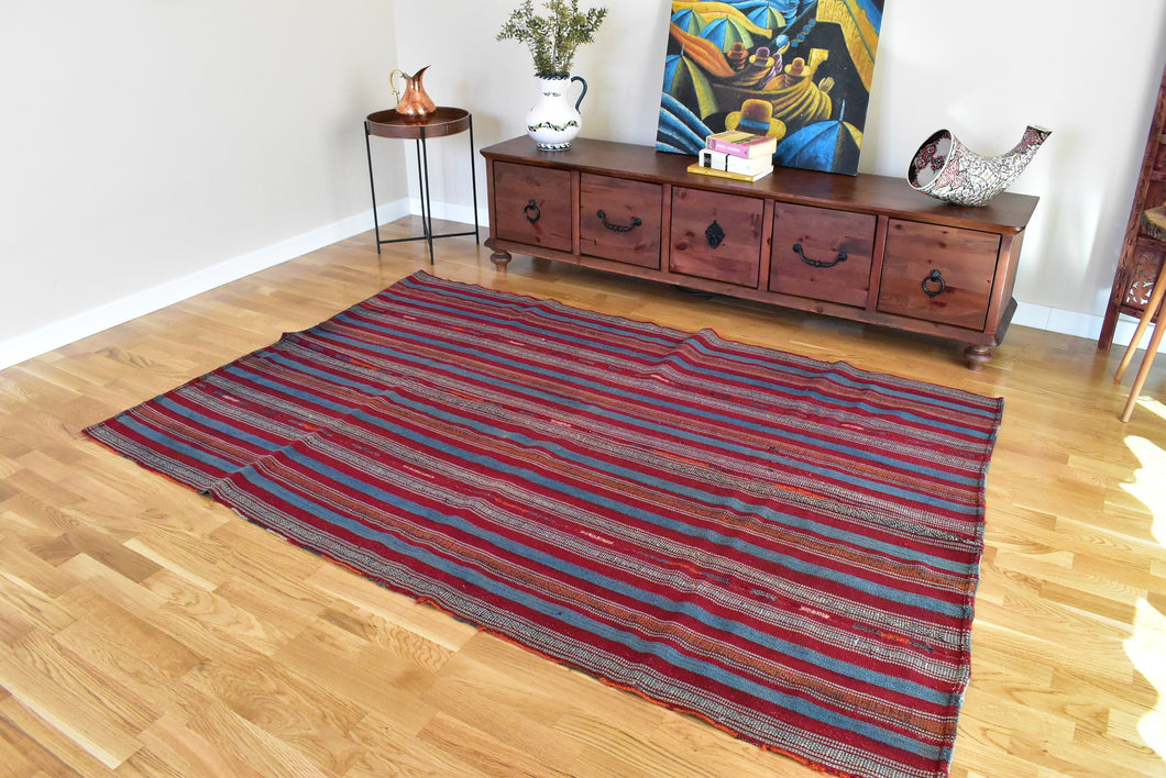 Anatolian Striped Kilim 4,9