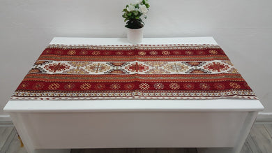 Decorative Runner Tapestry with Kilim Motifs