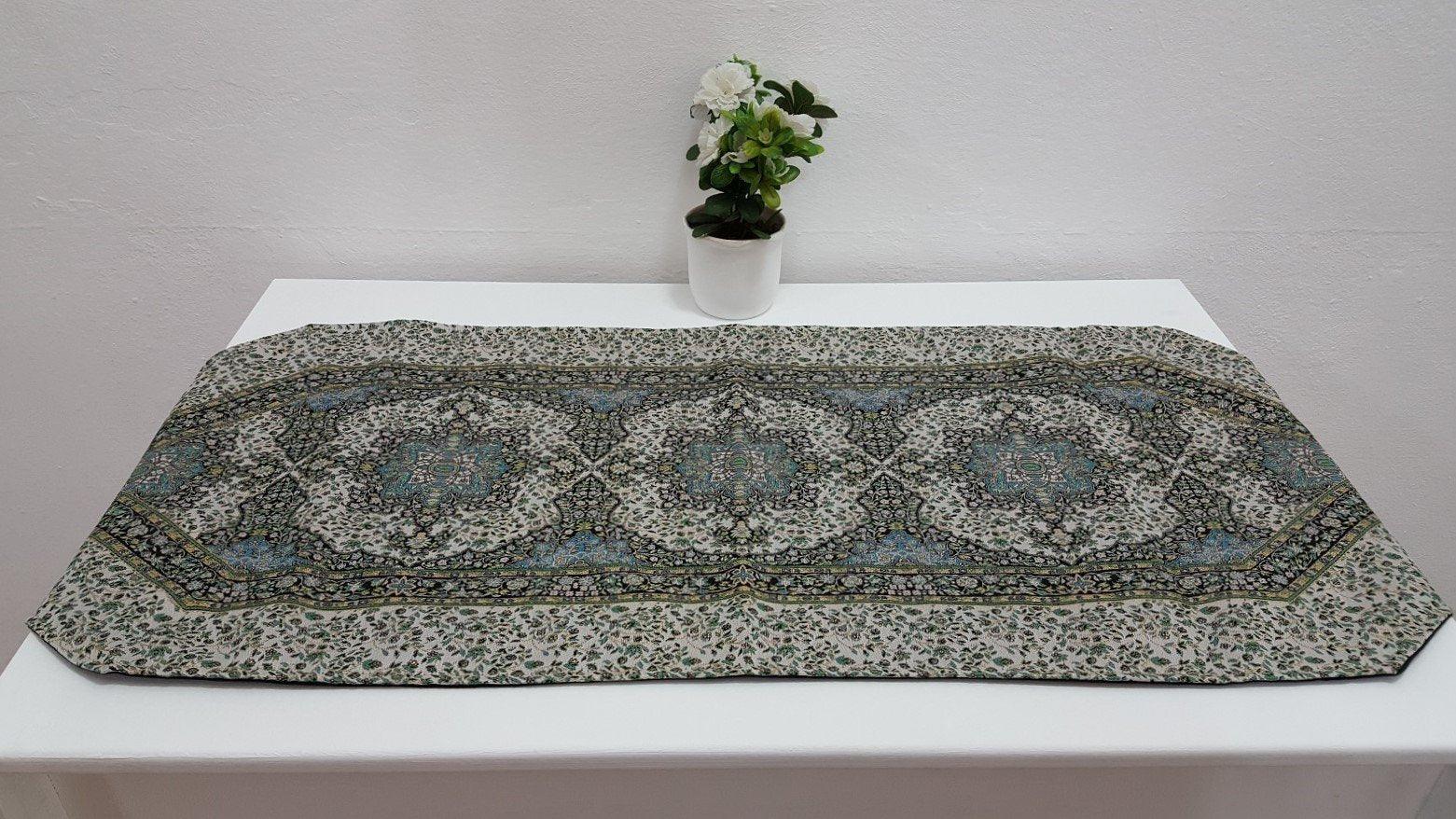 Decorative Table Runner with Exotic Design