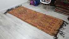Earthy Turkish Kilim Runner Perfectly Natural Look Rugs