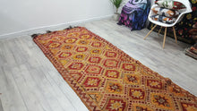Eclectic Design Turkish Runner Kilim Handwoven  Wool Kilims