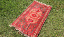 "Red Turkish Area Rug ""Faded"" - bosphorusrugs  - 1"