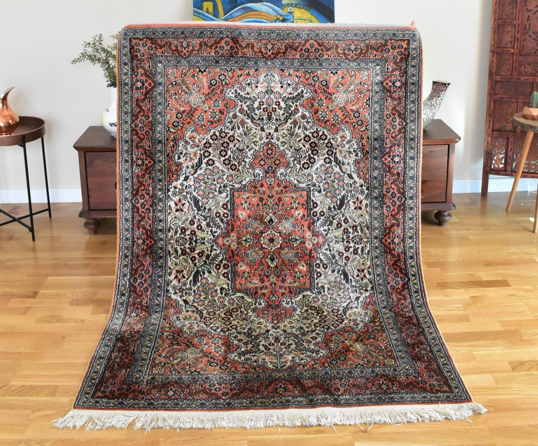 Kashmir Silk Carpet 4,1
