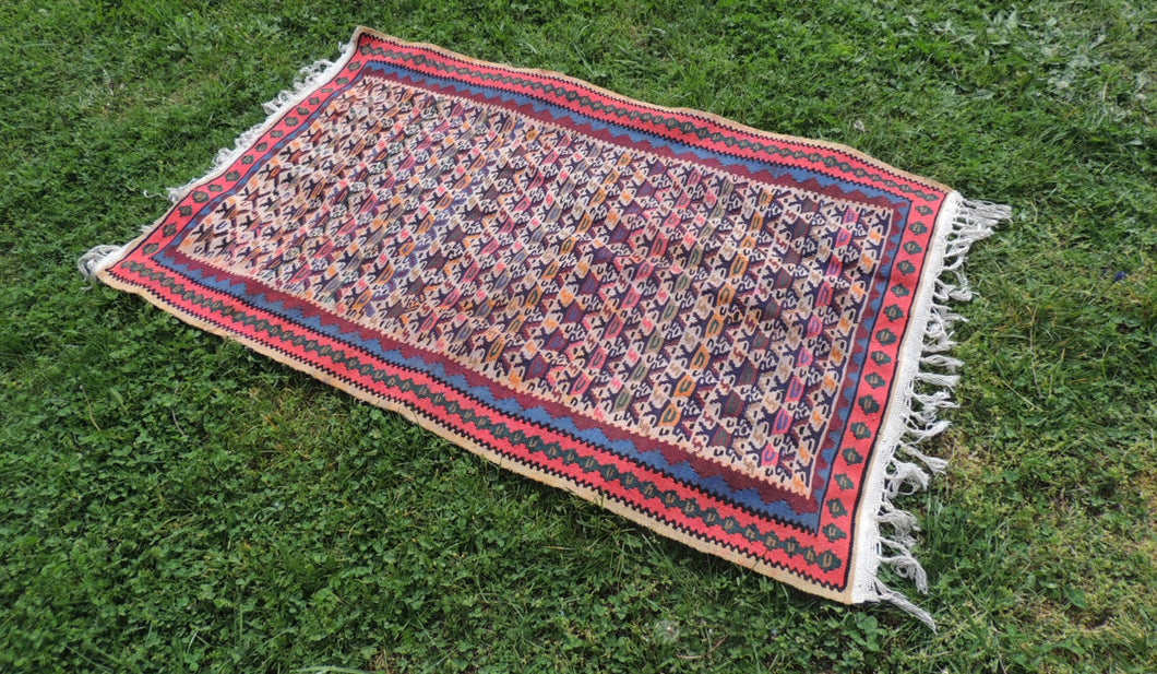 Flatwoven Persian rug - bosphorusrugs  - 1