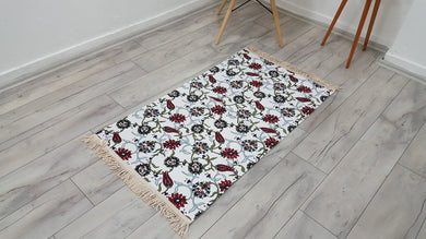 Floral Ottoman Design Fabric Rug Tapestry