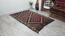 Geometric Patterned Kilim Rug Tribal Weaving