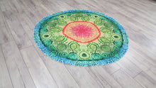 Green Colour Bohemian Tapestry Spiritual Home Decor