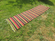 Striped Turkish runner retro kilim - bosphorusrugs  - 3