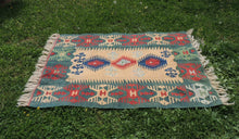 Green Turkish kilim rug - bosphorusrugs  - 1