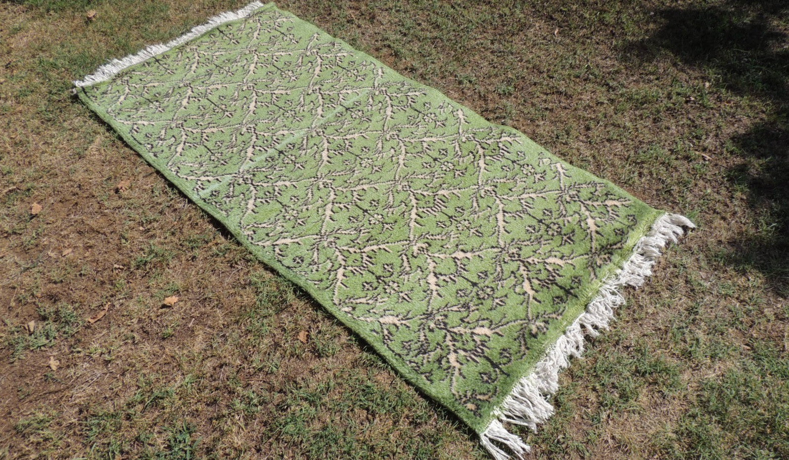 Green Turkish Area Rug Country Decoration