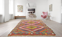 "Vintage Turkish kilim rug ""Rainbow"""