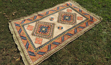 Wool Geometric Rug On Sale - bosphorusrugs  - 1