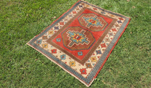 Vintage Handmade Geometric Turkish Carpet - bosphorusrugs  - 1
