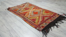 Handmade Turkish Kilim Rug Mut Jijim Black Fringes