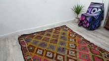 Vintage Turkish Kilim Rug Colorful Patterns Jijim Rug