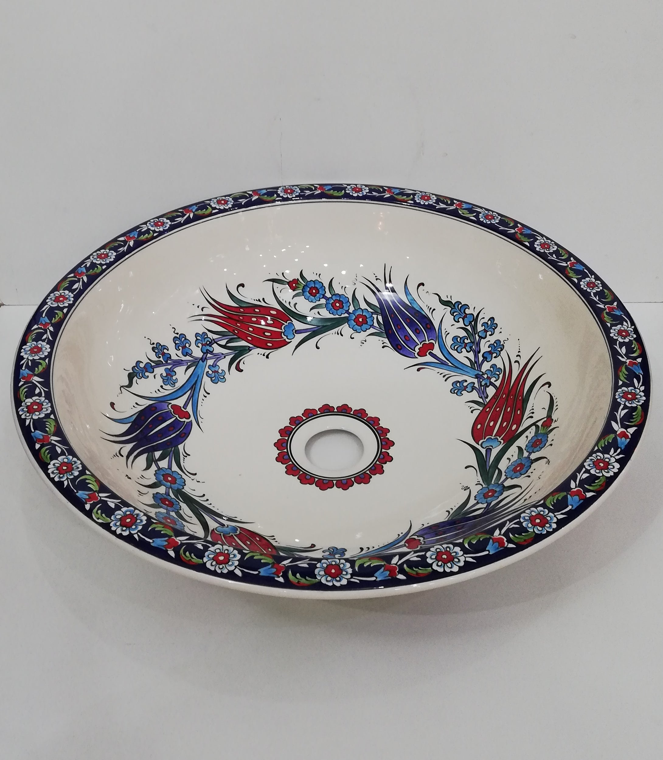 Hand Painted Ceramic Sink SS-028