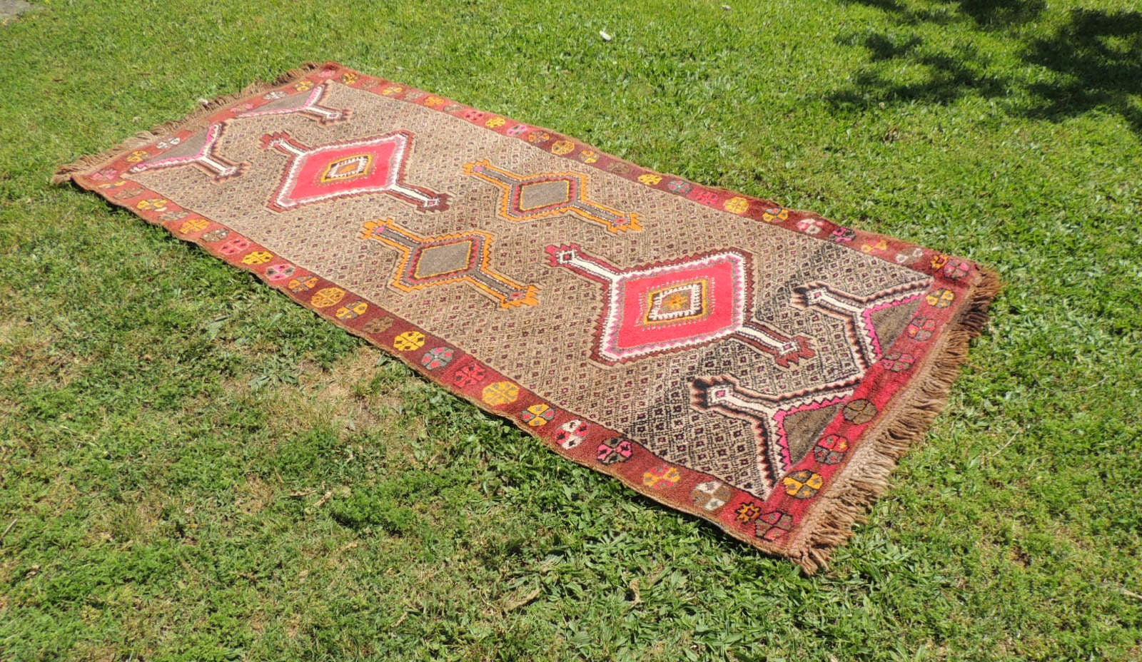 Vintage Turkish Kars carpet - bosphorusrugs  - 1