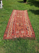 "Turkish ""Kars"" kilim rug 5x12 - bosphorusrugs  - 4"