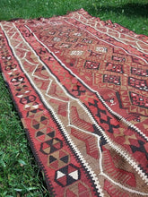 "Turkish ""Kars"" kilim rug 5x12 - bosphorusrugs  - 5"