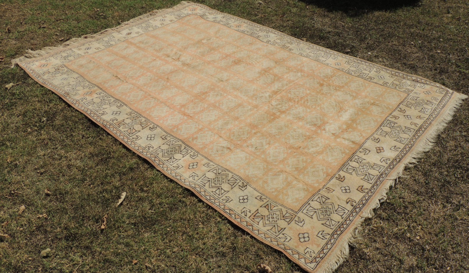 Large Pastel Turkish area rug Milas - bosphorusrugs  - 1