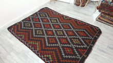 Lovely Turkish Kilim Rug Bohemian Style Vintage Rug