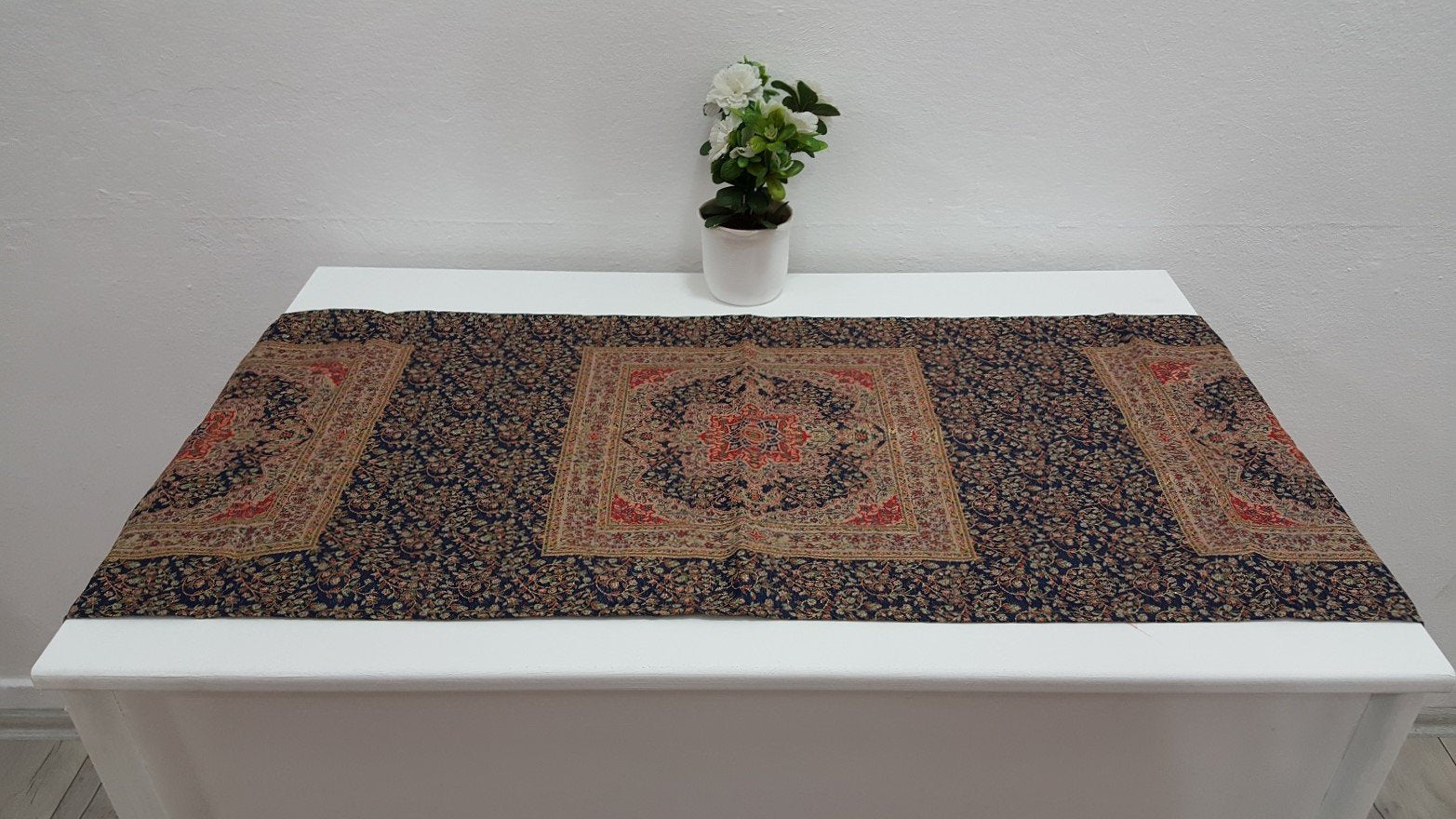 Navy Colour Turkish Tapestry Runner