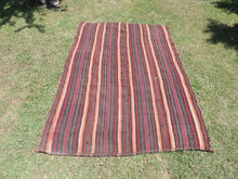 Goat Hair Striped Turkish nomad kilim - bosphorusrugs  - 2