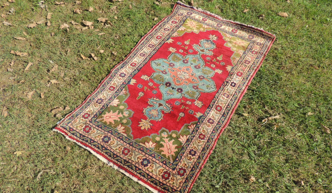 1960's Small Sized Turkish area rug - bosphorusrugs  - 1