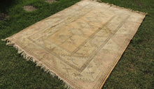 "Vintage ""Milas"" Carpet with Decorative Pastel Colors - bosphorusrugs  - 1"