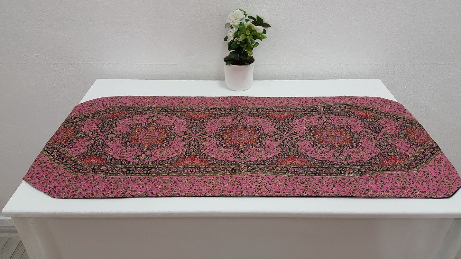 Pink Exotic Decorative Runner Tapestry