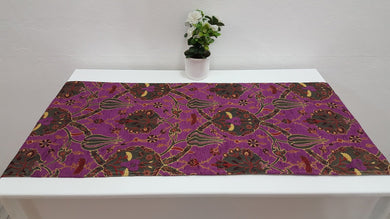 Purple Colour Runner with Tulip Motifs