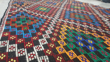 Rainbow Colours Kilim Rug Bohemian Style Home Decor